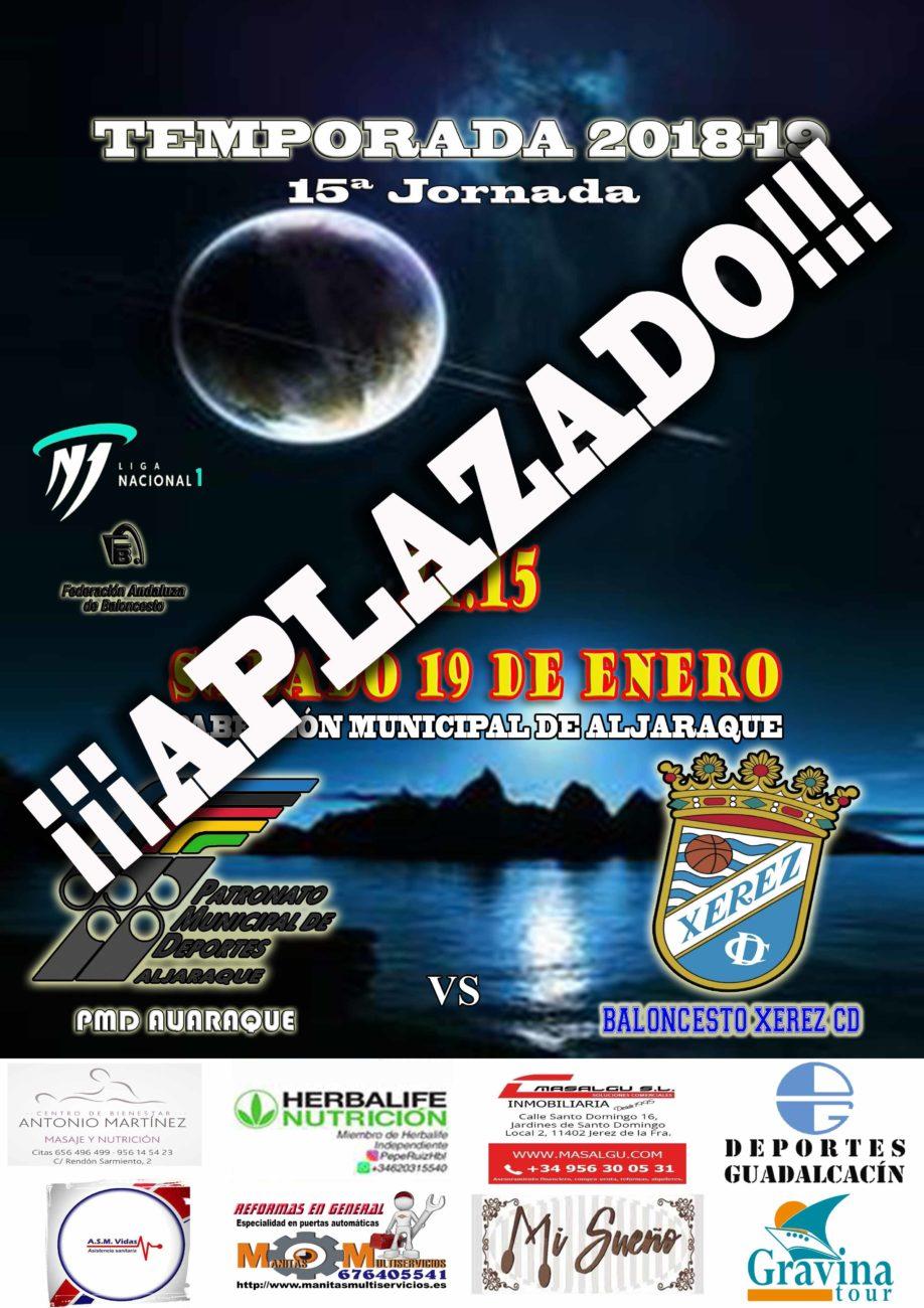 15ª Jornada 1ª División Nacional masculina (APLAZADO AL MARTS 19 DE FEBRERO 21:15)